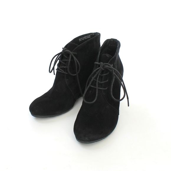f1e37d3be2a Clarks Shoes - Clarks Artisan Lace Up Suede Wedge Ankle Booties